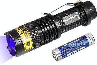 چراغ قوه UV چراغ قوه 365nm LED لامپ Blacklight Pet ادرار قابل حمل مینی جیب قابل حمل برای سگ گربه سگ خشک لکه های چراغ قوه ماوراء بنفش چراغ قوه با کلیپ SK68 (1 بسته)