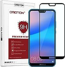 OMOTON Huawei P20 Lite Film Protection Ecran Verre Trempé (5.84') [Couvir l'écran Complèt] [sans Bulles] Protecteur Ecran Noir (5.84 Pouces)