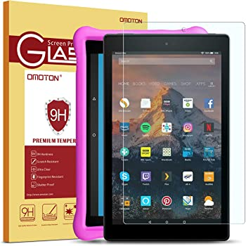 2pk 7th Generation NuPro Clear Screen Protector For Amazon Fire HD 10 Tablet
