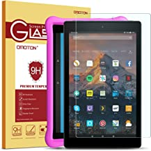 OMOTON Screen Protector for Fire HD 10 / Fire HD 10 Kids Edition, Tempered Glass/HD / 9H Hardness