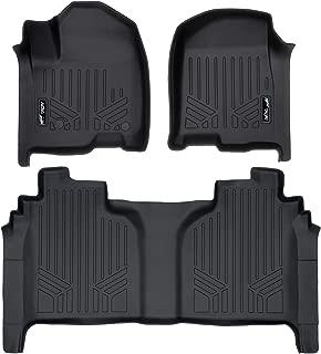 MAXLINER Floor Mats 2 Row Liner Set Black for 2019 Silverado/Sierra 1500 Crew Cab with 1st Row Bench or Bucket Seats