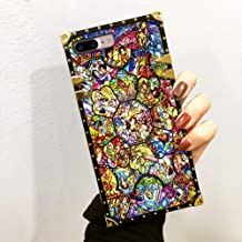 DISNEY COLLECTION Phone case Compatible with iPhone 7 Plus, iPhone 8 Plus Disney Stained Colorful Glass All Characters Reinforced Edges Shine Fashion Luxury Cool Cute Cartoon Bumper Shock Absorption C