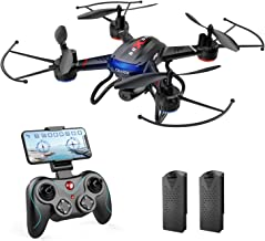 Holy Stone F181W Drone, with Camera, Indoor, 1080P, Wide Angle HD, Real Time, Less Than 7.1 oz (200 g), Trajectory Flight Mode, Sensory Control Mode, Gesture Shooting, 2 Modular Batteries, 20 Minutes, Altitude Hold, One Key Return, Headless Mode, 2.4 GHz,