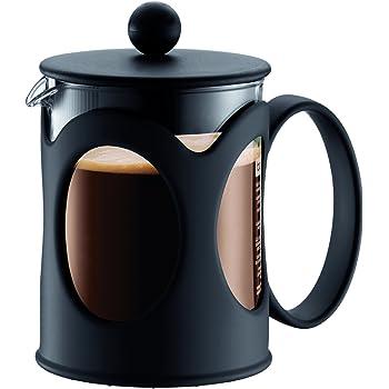 Bodum - 10683-01 - Kenya - Cafetière à Piston 4 Tasses - 0,5 L - Noire