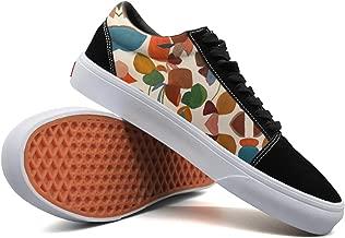 Armsttm Women Skate Shoes Autumn Colours Leaves Classic Suede Sneaker Tennis Shoe Laces