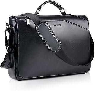 Bageek Men's Messenger Bag 15.6 Inch Laptop Bag Shoulder Bag Briefcase PU Leather Men's Bag Faux Leather Shoulder Bag