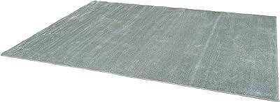 スミノエ(Suminoe) オーダーラグ ブルーグレー 幅95cm ×長さ190cm なめらかナイロン 防音 防炎