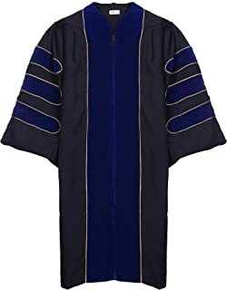 blue and gold graduation hood