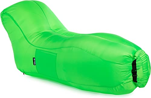 Nola-Air  ufblasbarer Sofa Air Lounger FAST 'N'FLATABLE - Luft Liege niederl isches Design (Grün)