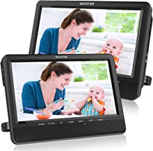 WONNIE 10'' Dual Car DVD Player Portable Headrest CD Players for Kids with 2..