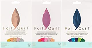 We R Memory Keepers - Foil Quill 4 x 6 Foiling Sheets - Shining Starling, Flamingo and Peacock - 3 Colorful Foil Packages