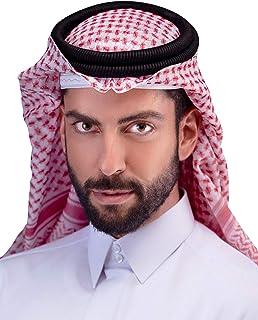 HOMELEX Arab Kafiya Keffiyeh Arabic Muslim Head Scarf for men with Aqel Rope