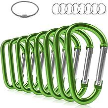 "4 pieces 3/"" Locking Aluminum Carabiner Green or Purple Color 4-pack"