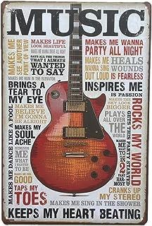WINOMO Vintage Plaque M/étallique Musique Signes D/écoratifs /étain Peinture pour Mur Bar Maison Caf/é