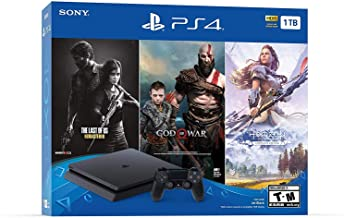 Newest Sony Playstation 4 PS4 1TB HDD Gaming Console Bundle with Three Games: The Last of Us, God of War, Horizon Zero Daw... photo