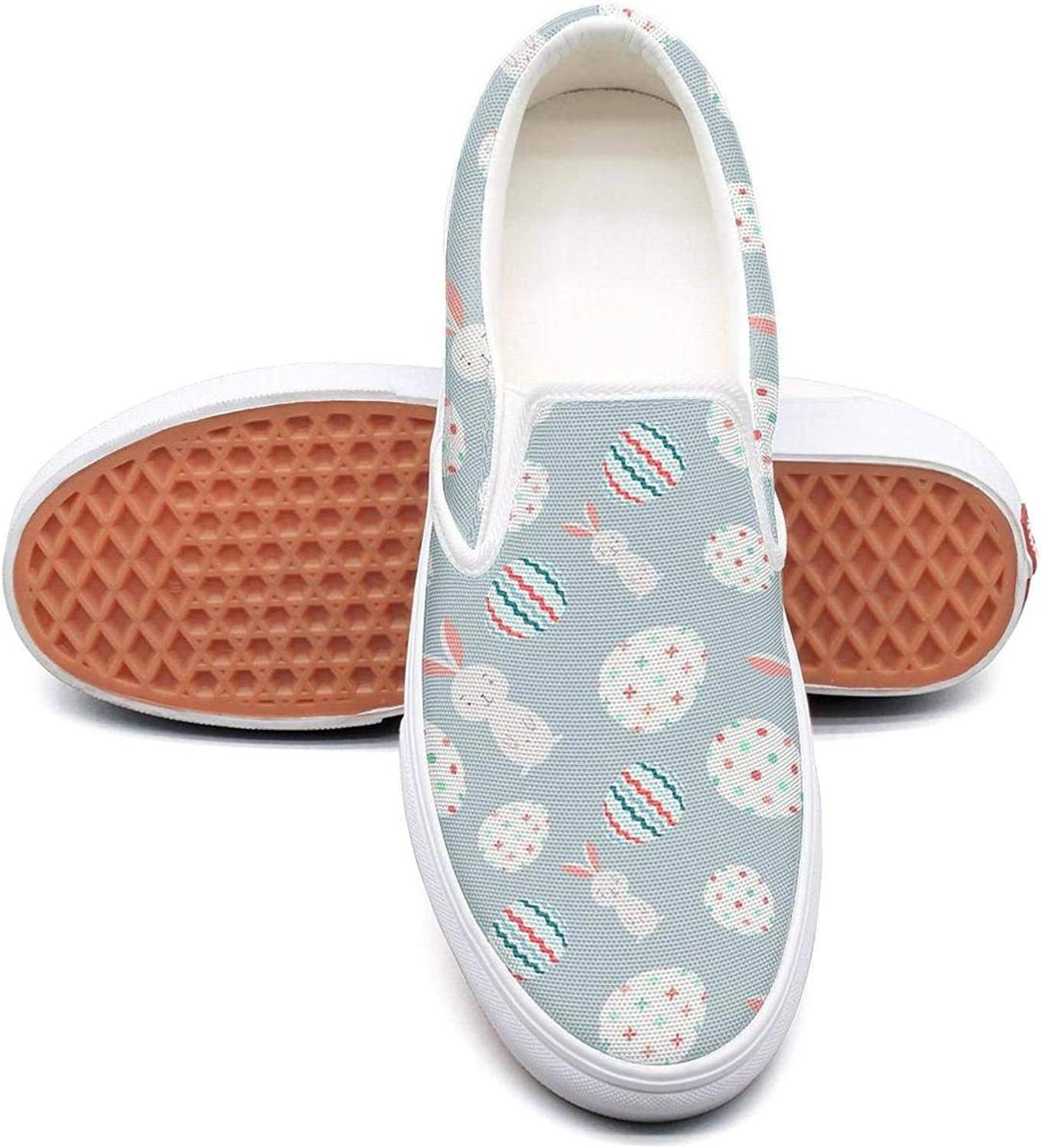 Uieort Pizza Eggs Womens Slip On Sneakers shoes Lightweight
