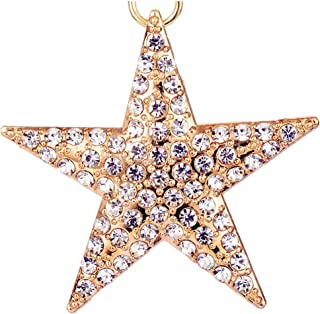 Giftale Starfish Keychain for Women Cute Bag Charms Crystal Rhinestone Pendant Car Key Ring