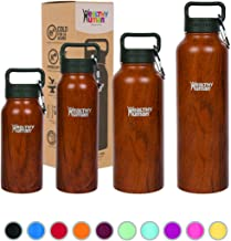 Healthy Human 16oz Insulated Stainless Steel Water Bottle Stein - Harvest Maple Wood Finish