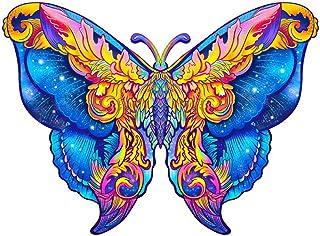Puzzle en Bois Jouet en Bois, Puzzle en Bois pour Adultes et Enfants - Idéal pour la Collection de Jeux familiaux (Butterfly)
