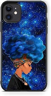 XUNQIAN Compatible for iPhone 12 Pro Max Case 6.7 inch(2020 Release), Black African American Girls Women Thin Soft TPU +Te...