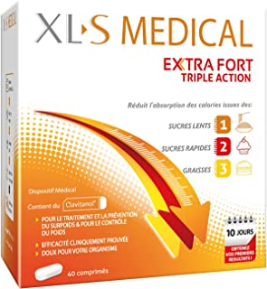 XL-S MEDICAL Extra Fort – Pour une aide à la Perte de Poids Efficace* – Réduit L'Absorption des Calories issues des sucres...