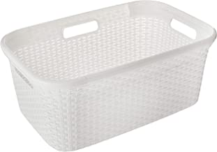 JCP JC-5988 Laundry Basket with Tiny Vent, White, S
