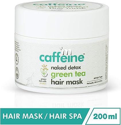 mCaffeine Naked Detox Green Tea Hair Mask | Protein, Argan Oil | Hair Strengthening | All Hair | Silicone & SLS Free | 200 ml