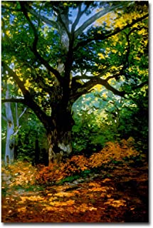 Bodmer Oak Fontainebleau Forest Artwork by Claude Monet, 22 by 32-Inch Canvas Wall Art