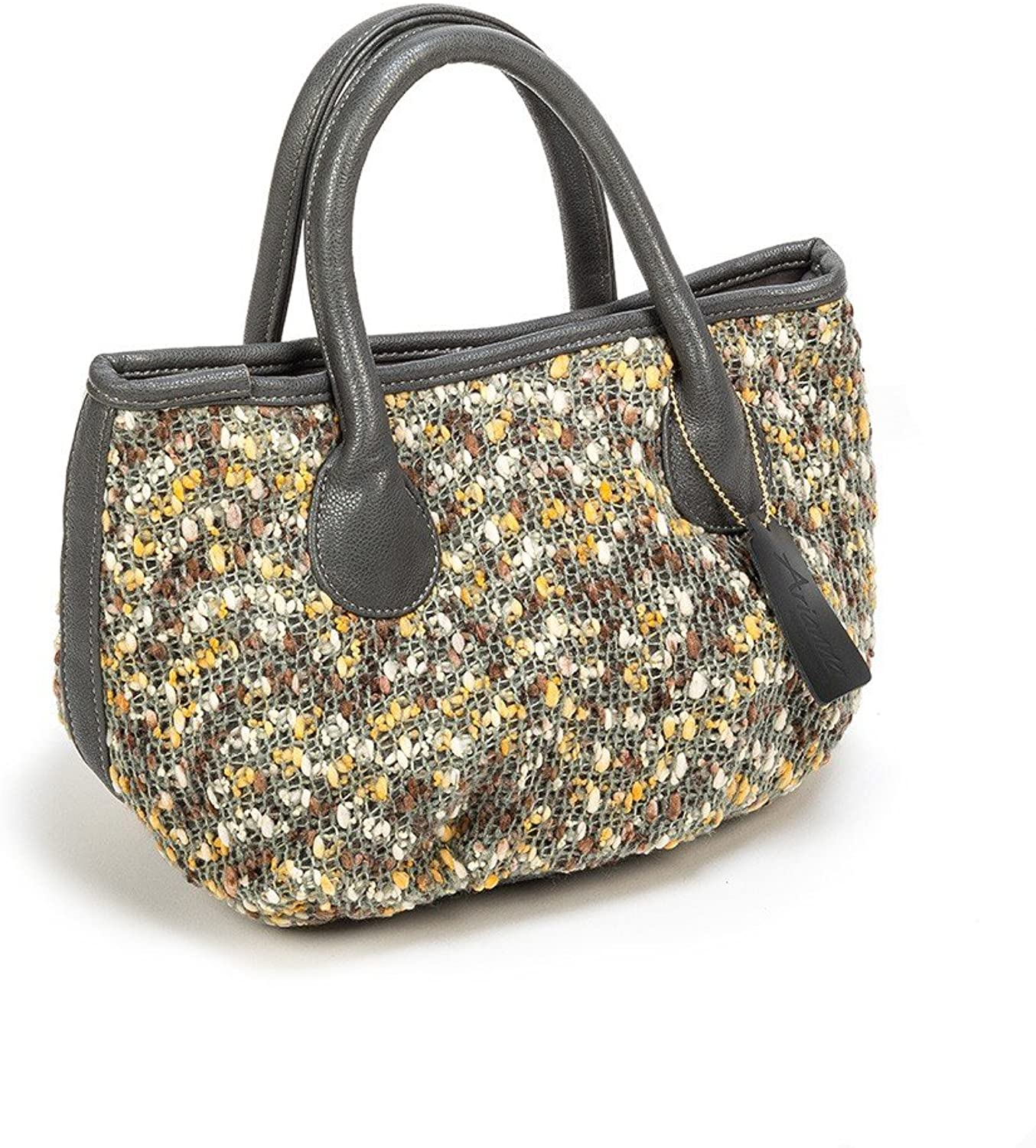 Arianna Boucle Top Handle Small Bag 8 Wide