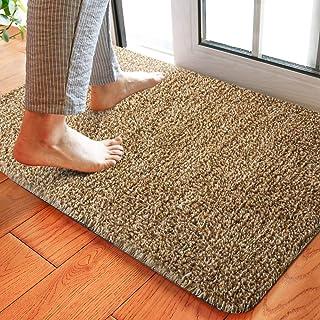 HOUSE DAY Magic Doormat Absorbs Mud Doormat No Odor Durable Anti-Slip Rubber Back Low-Profile Entrance Door Mat Large Cott...