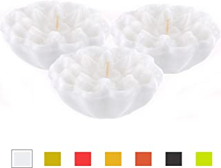 CandleNScent Unscented Floating Candles   Large 3 Inch - Fits in 3.25 Inch Vase and Above   White   Floats On Water   Pack of 3