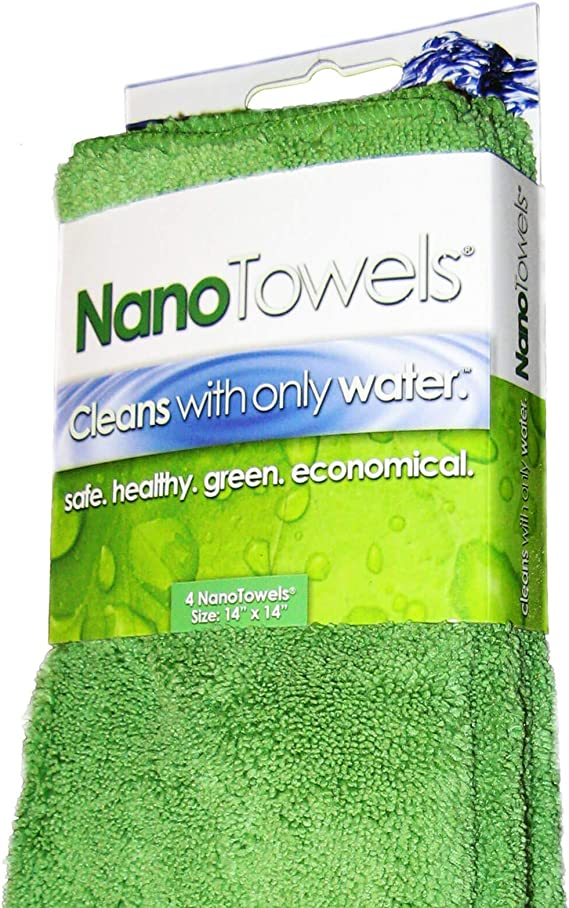 Nano Towels - Amazing Eco Fabric That Cleans Virtually Any Surface With Only Water. No More Paper Towels Or Toxic Chemicals. Save Money