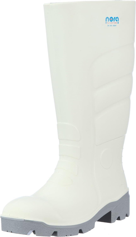 Nora Max, Unisex-Erwachsene Regen Stiefel, Weiß (Weiß 10), 46 EU EU EU (11 UK) e45