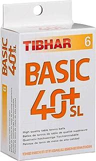 Pelota de Tenis de Mesa Tibhar SYNTT NG 40+ 3 Star 3 Unidades Color Naranja
