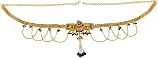 Memoir Brass Gold plated, Wedding design, Kundan Meenakari, Cross Jhalar pattern with Pearl tassled, Stylish Traditional, ...