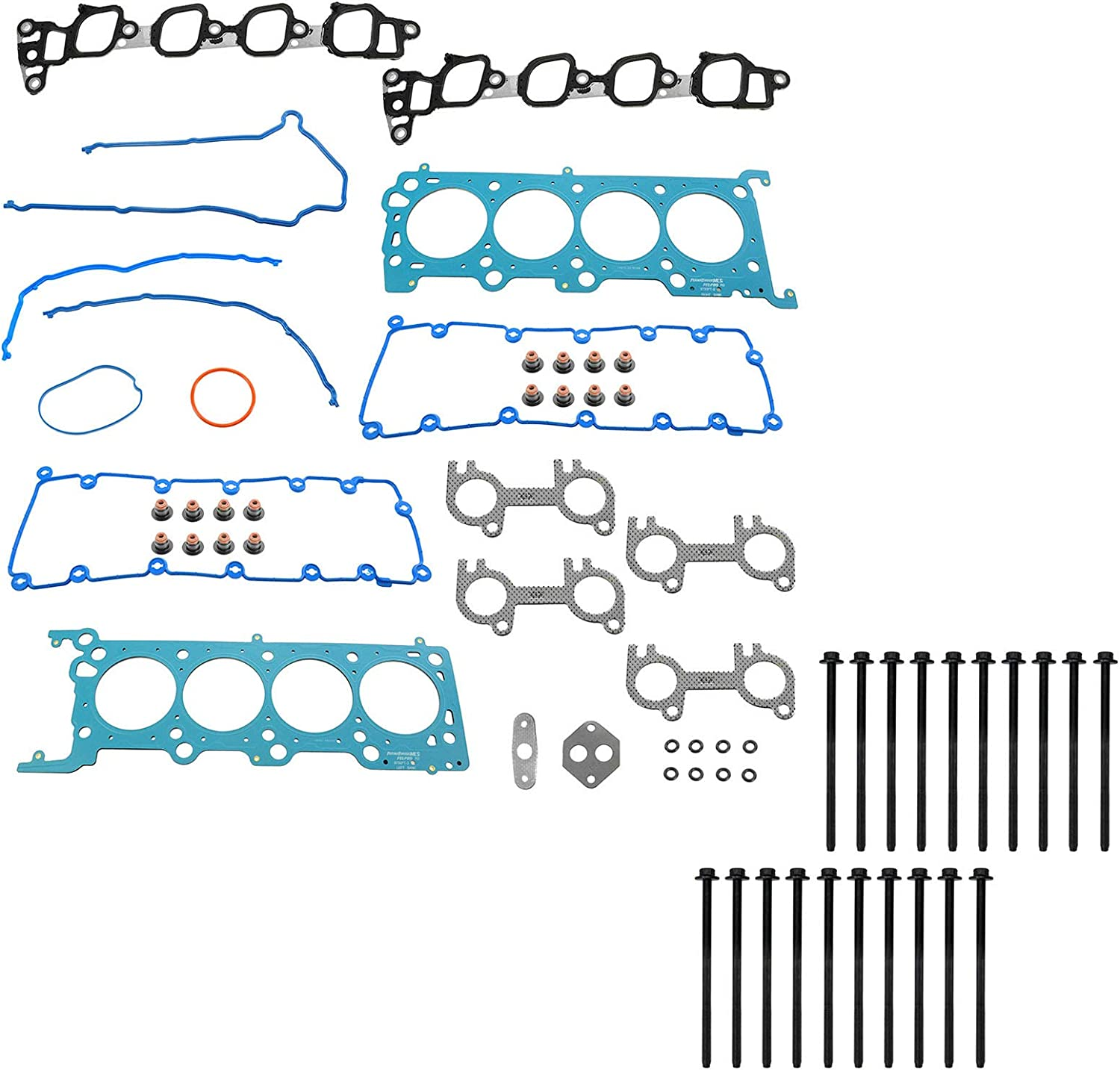 1A Auto Steel Head Gasket Bolt Kit for Manufacturer direct delivery Louisville-Jefferson County Mall Set Ford Van E Series F