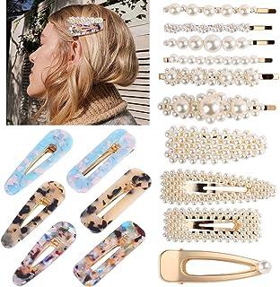 5 paar DIY Friseur schwarz Metallic Bow Prong Haarspangen für Damen Metall de