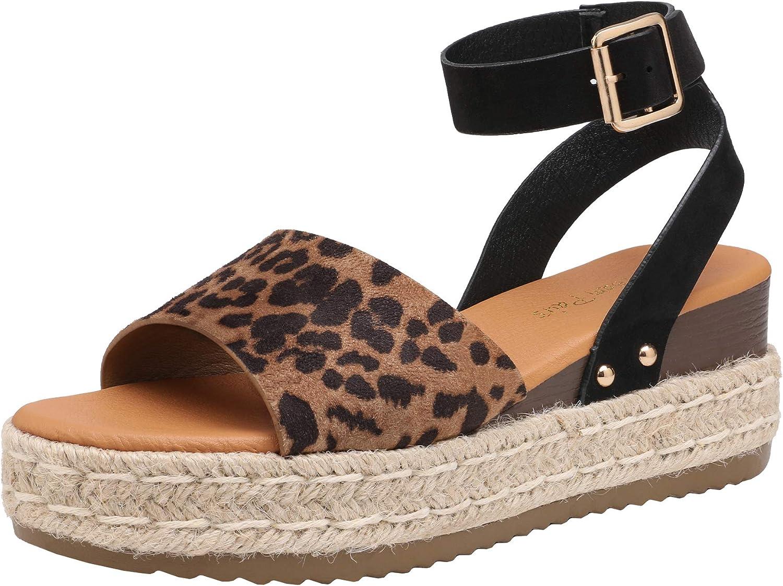 DREAM PAIRS Women's Platform Ankle Strap Open Toe Espadrille Wedge Sandals
