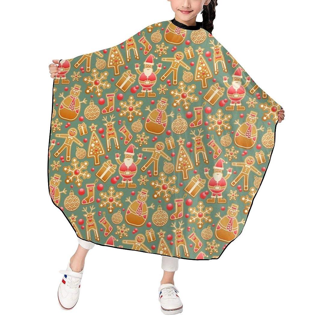 ウナギ割れ目スキムクリスマス ゴールデンライト 雪ダルマ ツリー 散髪ケープ ヘアーエプロン 子供 サロン ファミリー 美容室 髪の毛剃り 操作やすい 散髪マント 撥水 静電気防止 柔らかい 滑らか 高級感 ファッション 男女兼用 ギフト