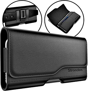 Stronden iPhone XR, iPhone 11 Holster - Leather Belt Case with Belt Clip [Magnetic Closure] Pouch w/Built in ID Card Holder (for Slim/Thin Case ONLY)