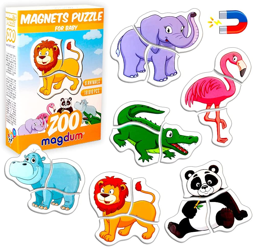 Shipping included Magnetic Puzzles for Rare Kids Ages 3-4 MAGDUM - Toddler Puzzl Zoo by