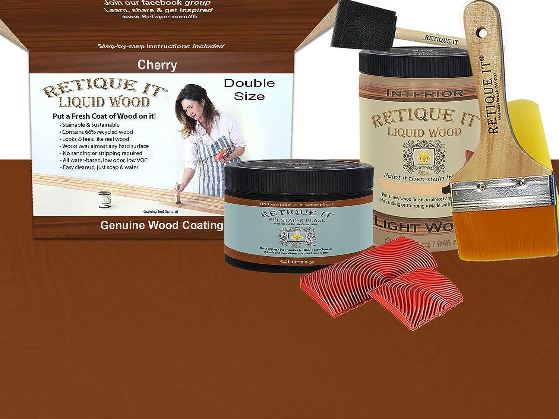 Retique It Graining Sale Special Price Kit Gel Max 44% OFF Stain 32 Quart Wood oz Liquid with