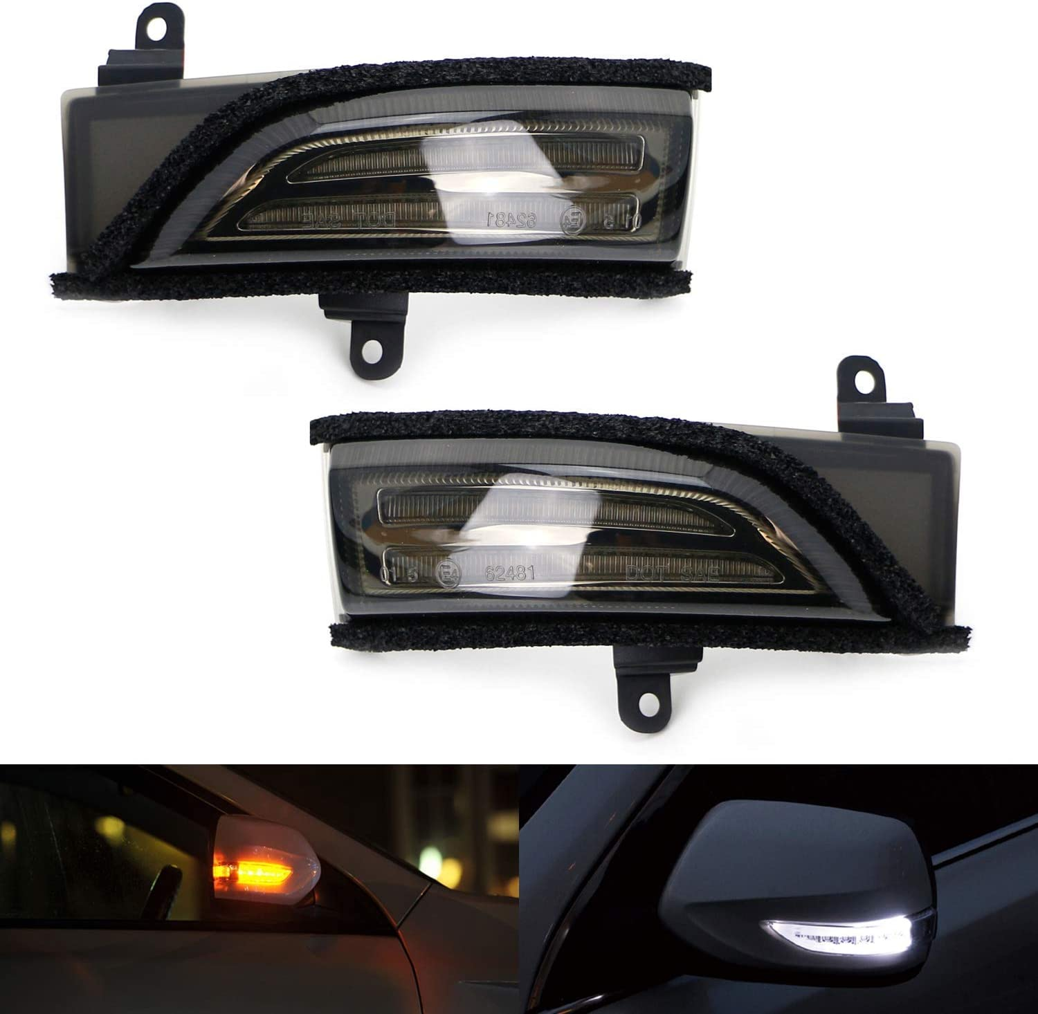 iJDMTOY JDM Spec White Amber Sid LED Flash Sequential Switchback Low price 1 year warranty