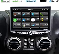 Stinger - Jeep Wrangler JK (2011-2018) Stereo Replacement System: 10-Inch Touchscreen Radio with Android Auto, Apple CarPlay, Bluetooth, GPS Navigation, Dual USB Ports; Includes Dash Kit & Interface