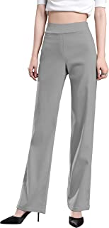 Foucome Dress Pants for Women-Slim Bootcut Stretch High Waist Trousers with All Day Comfort Pull On Style