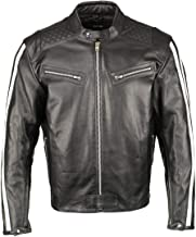 Best black leather jacket with white stripes Reviews