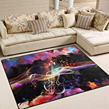 alaza Fantasy Music Notes Violin Area Rug Rugs for Living Room Bedroom 5'3
