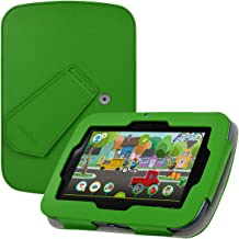 """Leapfrog Epic Case - HOTCOOL New PU Leather with Kickstand Cover Case for Leapfrog Epic 7"""" Android-Based Kids & Leapfrog Epic Academy Edition Tablet, Green"""