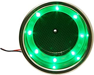 2Pieces 8 LED Stainless Steel Cup Drink Holder with Drain LED Marine Boat Rv Camper, Available in Green