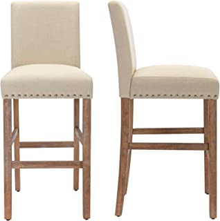 THKSBOUGHT Set of 2 Bar Stools 29 Inch Bar Chairs with...